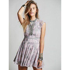 Free People Laurel Lace Dress Dusty Lavender US 2